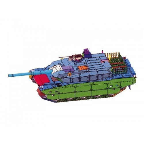 アオシマ 1/72 ミリタリーモデルキット No.16 陸上自衛隊 10式戦車 73式特大型セミトレーラー付属 スケールプラモデル 4905083054321