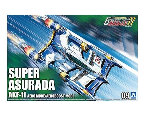 アオシマ 1/24 サイバーフォーミュラ No.9 スーパーアスラーダ AKF-11 エアロモード/エアロブーストモード キャラクタープラモデル 4905083059111
