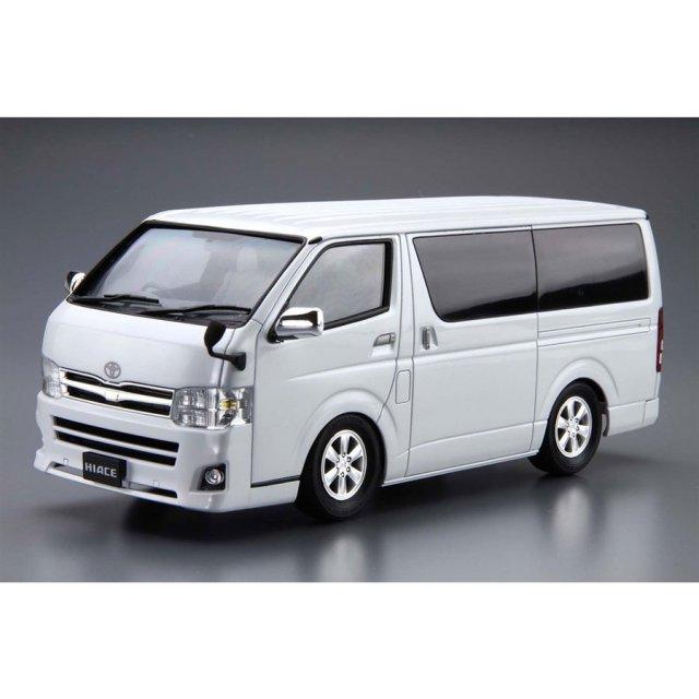 アオシマ 1/24 ザ・モデルカー No.6 トヨタ TRH200V ハイエーススーパー GL '10 スケールモデル 4905083061381
