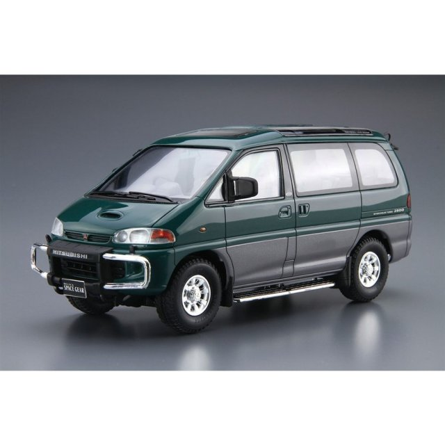 アオシマ 1/24 ザ・モデルカー No.96 ミツビシ PE8W デリカスペースギア '96 スケールモデル 4905083061404