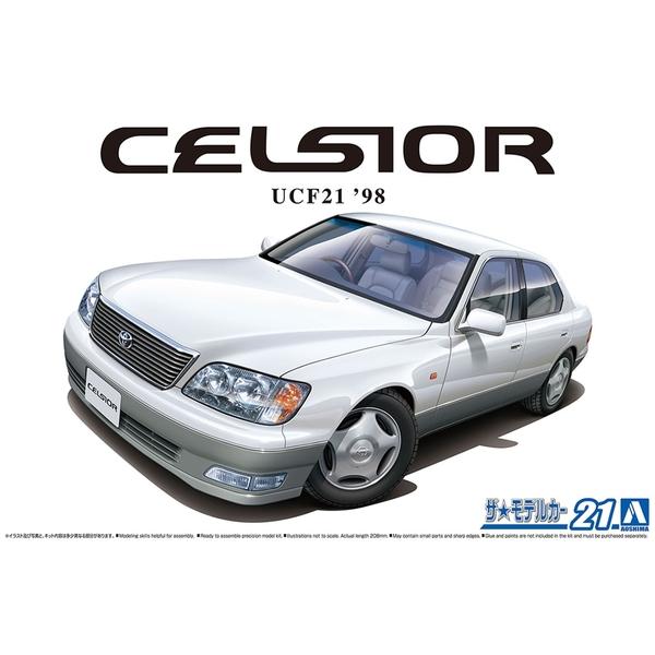 アオシマ 1/24 ザ☆モデルカー No.21 トヨタ UCF21 セルシオ C仕様 '98 スケールモデル 4905083063002