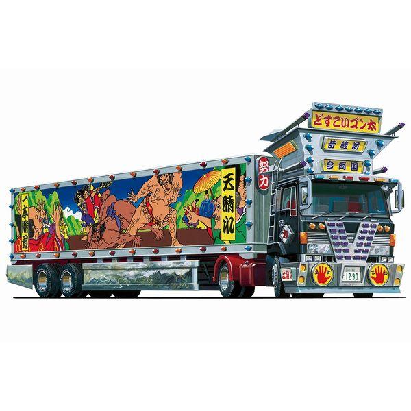 【9月予約】アオシマ 1/64 ミニデコNEXT No.1 どすこいゴン太(大型トレーラ) スケールモデル 4905083063286