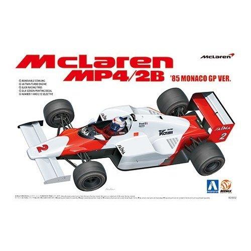 アオシマ  1/20 マクラーレン MP4/2B '85 モナコグランプリ仕様 スケールプラモデル 4905083081914