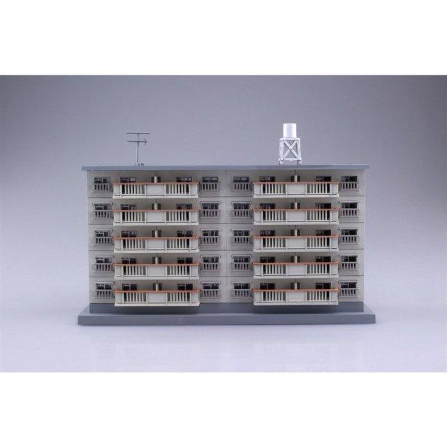 アオシマ  1/150 建築ロマン堂 団地 2棟セット スケールプラモデル 4905083103814