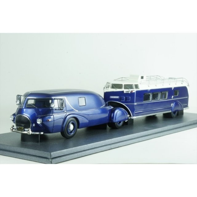オートカルト 1/43 レオ トラック / カーチス エアロカー 1938 ブルーメタリック 完成品ミニカー 11009