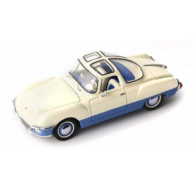 オートカルト 1/43 シュコダ 440 スパータック ポリテックス ロードスター 1956 ホワイト/ブルー 完成品ミニカー 06028