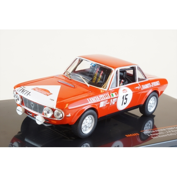 イクソ 1/43 ランチア フルヴィア 1600 クーペ HF No.15 1972 ラリー・サンレモ J.ラニョッティ/J.-P.ルジェ 完成品ミニカー RAC323