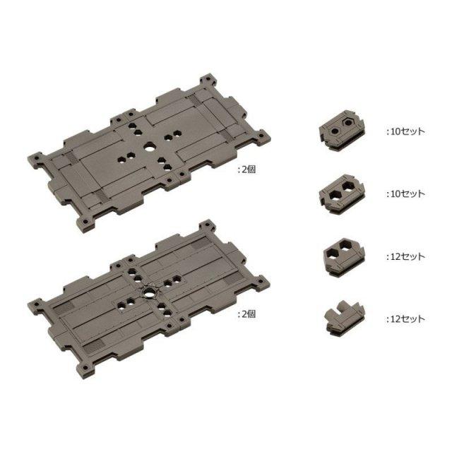 コトブキヤ キットブロック 1/24 ブロックベース02 パネルオプションA 「ヘキサギア」より 模型用グッズ HG058