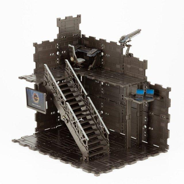 コトブキヤ キットブロック 1/24 ブロックベース01 DXヘッドクォーター 「ヘキサギア」より 模型用グッズ HG060