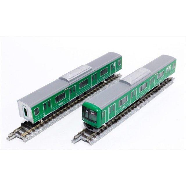 グリーンマックス Nゲージ 東急5000系(5122編成・青ガエルラッピング)8両編成セット(動力付き) 鉄道模型 50594
