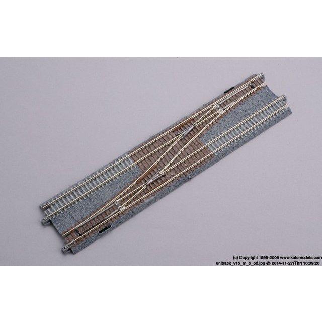 KATO Nゲージ 複線片渡りポイント4番 (左) 鉄道模型パーツ 20-230 鉄道模型パーツ 20-230