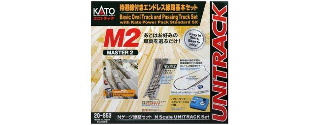 【9月予約】KATO Nゲージ M2 待避線付エンドレス線路基本セット マスター2 鉄道模型パーツ 20-853