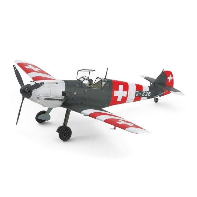 タミヤ 1/48 メッサーシュミットBf109 E-3 スイス空軍 スケール限定 スケールモデル 25200