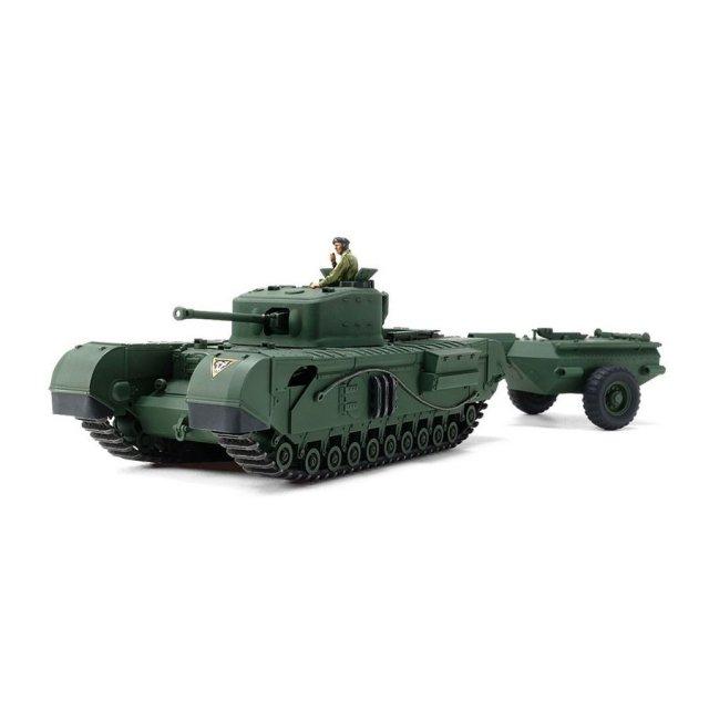 タミヤ 1/48MM イギリス戦車 チャーチルMk.7 クロコダイル スケールプラモデル 32594