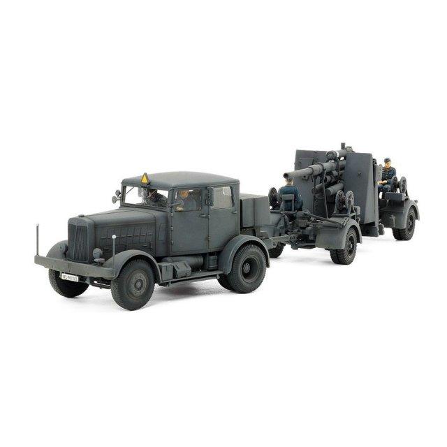タミヤ タミヤ・イタレリ 1/48 ドイツ重牽引車 SS-100・88mm砲FLAK37セット スケールプラモデル 37027