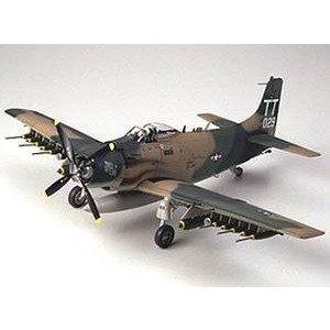 タミヤ 1/48 スカイレイダー アメリカ空軍 スケールモデル 61073