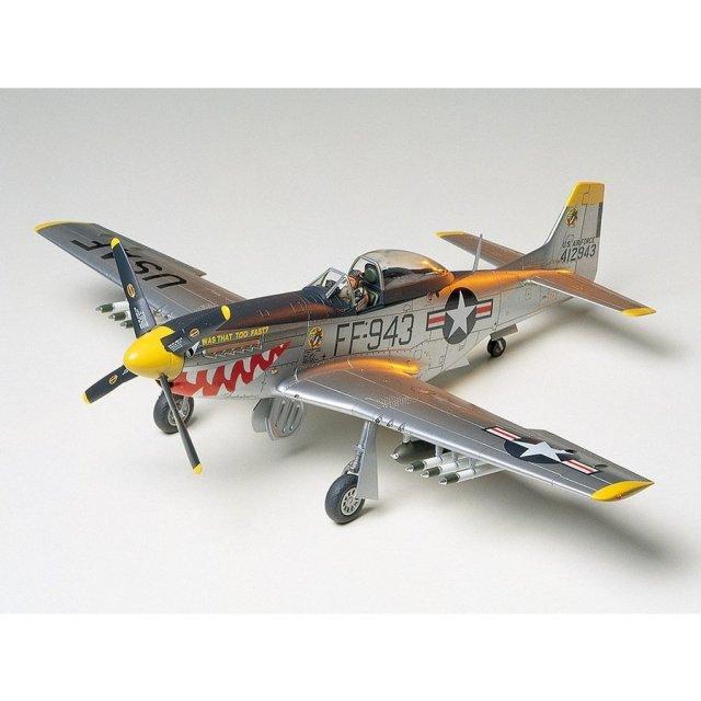 タミヤ 1/48 ノースアメリカン F-51D マスタング (朝鮮戦争仕様) スケールモデル 61044