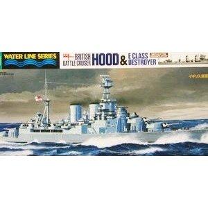 タミヤ 1/700 イギリス海軍 巡洋戦艦フッド・E級駆逐艦 北大西洋追撃作戦 スケールモデル 31806