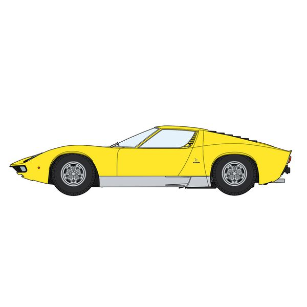 """ハセガワ 1/24 ランボルギーニ ミウラ P400 SV""""ディテールアップバージョン イエローボディ"""" スケールモデル 20511"""