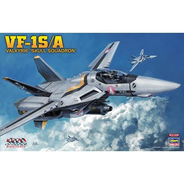 """ハセガワ 1/48 VF-1S/A バルキリー """"スカル小隊"""" 「超時空要塞マクロス 愛・おぼえていますか」より キャラクタープラモデル 65792"""