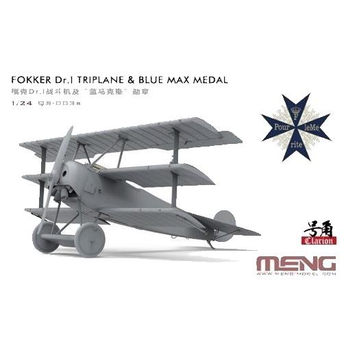 【4月予約】モンモデル 1/24 フォッカー Dr.I 戦闘機 (プール・ル・メリット勲章付) 限定版 スケールモデル MQS-003S