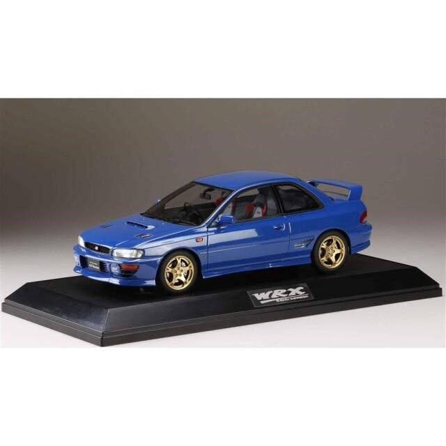 ホビージャパン 1/18 スバル インプレッサWRX タイプ R STi Ver.1997 GC8 ソニックブルーマイカ【取寄対応】 完成品ミニカー HJ1812DBL