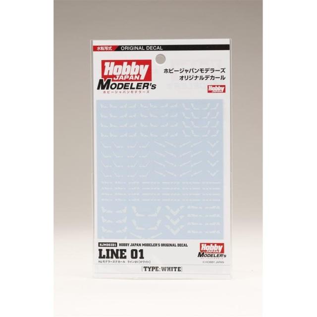 【送料無料】ホビージャパン HJモデラーズデカール ライン01[ホワイト] HJM003D1 【同梱種別A】