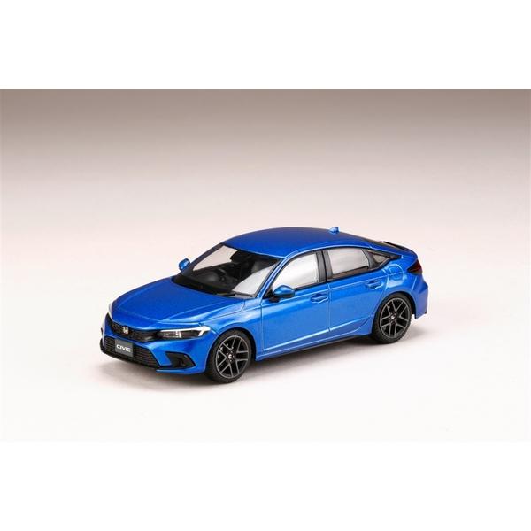 ホビージャパン 1/43 ホンダ シビック 2021 プレミアムクリスタルブルーメタリック 完成品ミニカー HJ431003BL