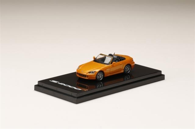 ホビージャパン 1/64 ホンダ S2000 AP1 カスタムバージョン ニューイモラオレンジパール 完成品ミニカー HJ641020CP