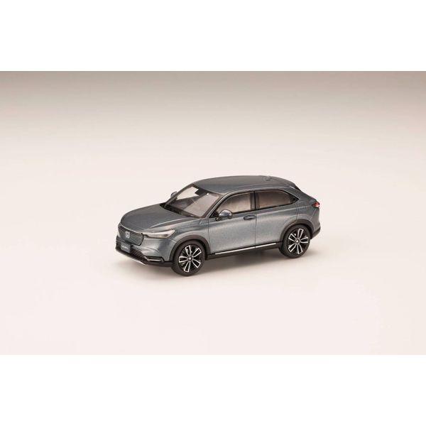 ホビージャパン 1/43 ホンダ ヴェゼル 2021 メテオロイドグレー・メタリック 完成品ミニカー HJ431002GM