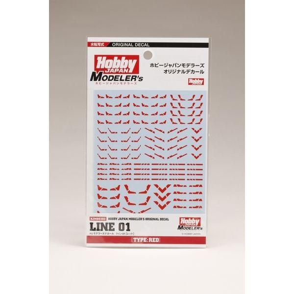 【5月予約】【送料無料】ホビージャパン HJモデラーズデカール ライン01[レッド] ホビージャパン製品 HJM003D3
