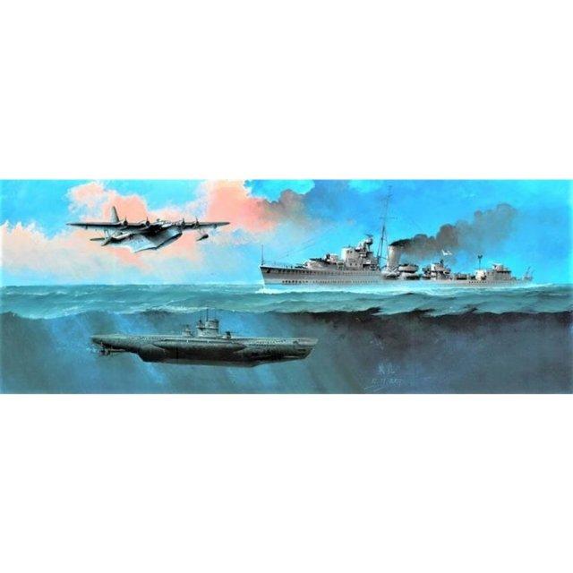 フライ 1/700 大西洋海戦:対潜戦セット I スケールモデル FLYFH1120
