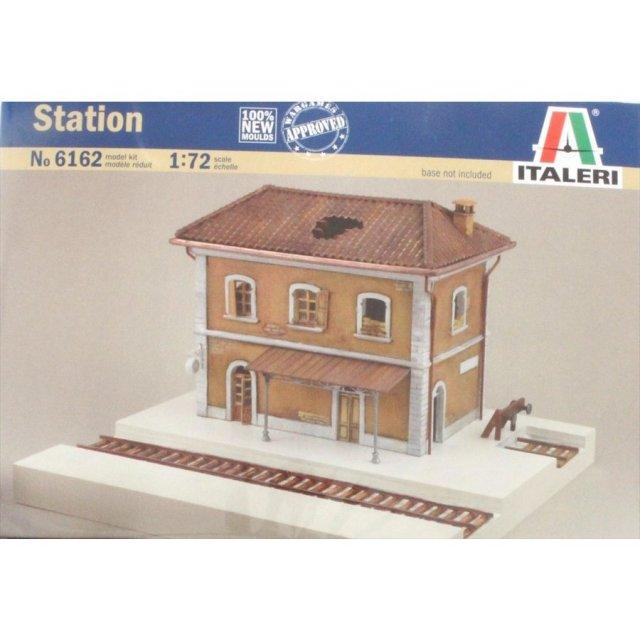 イタレリ 1/72 WW.II ヨーロッパの駅 ジオラマアクセサリーセット スケールプラモデル IT6162