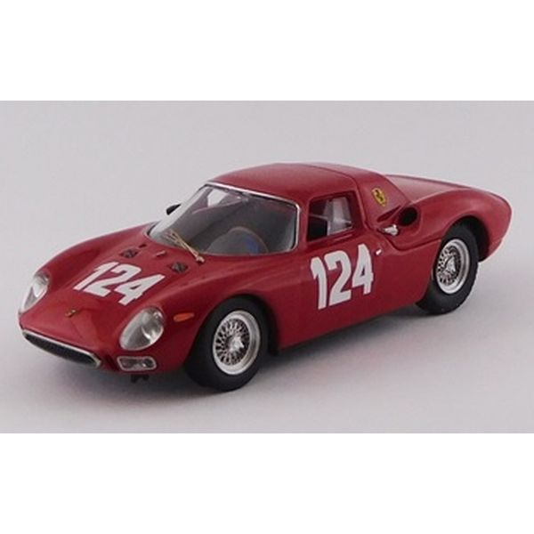 ベストモデル 1/43 フェラーリ 250 LM No.124 1965 ムジェロGP ウィナー M.カゾーニ/Nicodemi 完成品ミニカー BEST9799