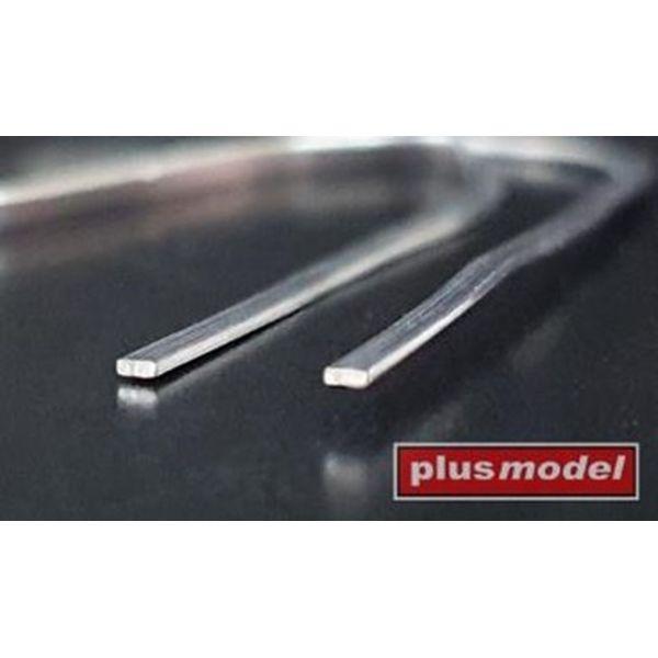 【5月予約】プラスモデル リード線 (平) 厚さ0.2mm x 幅1mm (長さ:140mm x 20本) 模型用グッズ PLM555