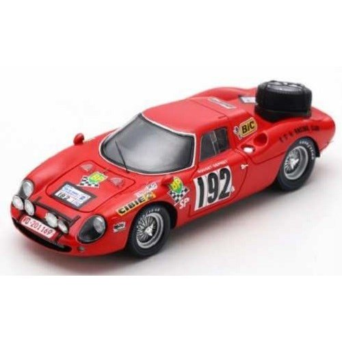 ルックスマート 1/43 フェラーリ 250 LM No.192 1969 ツール・ド・フランス J-P.ルジェ/J-C.デプレット 完成品ミニカー LSRC064