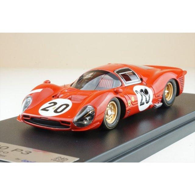 ルックスマート 1/43 フェラーリ 330 P3 No.20 1966 ル・マン24時間 L.スカルフォッティ/M.パークス 完成品ミニカー LSLM102