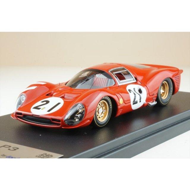 ルックスマート 1/43 フェラーリ 330 P3 No.21 1966 ル・マン24時間 L.バンディーニ/J.ギシェー 完成品ミニカー LSLM103