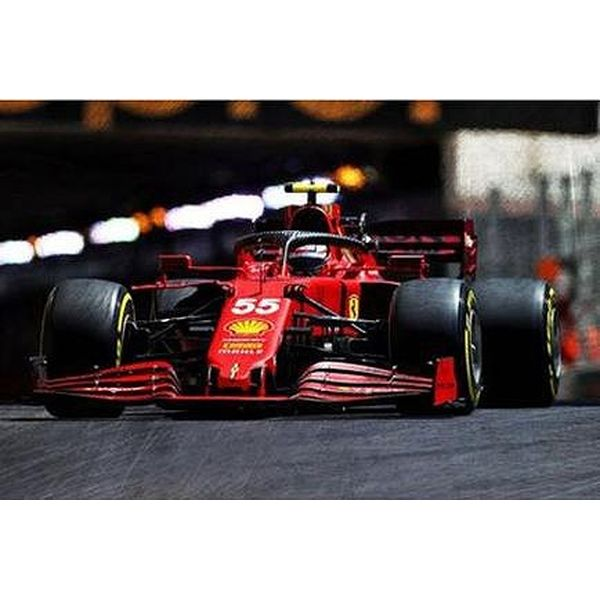 【9月予約】ルックスマート 1/43 スクーデリア フェラーリ SF21 No.55 2021 F1 モナコGP 2位 C.サインツJr. 完成品ミニカー LSF1037