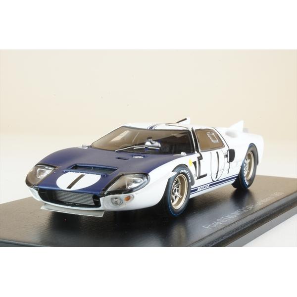 【6月予約】スパーク 1/43 フォードGT40 MK2 No.1 1965 ル・マン24時間 K.マイルズ/B.マクラーレン 完成品ミニカー S4532