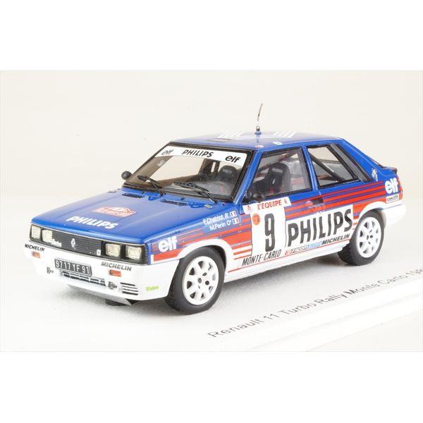 【7月予約】スパーク 1/43 ルノー 11 ターボ No.9 1987 WRC ラリー・モンテカルロ F.シャトリオ/M.ペラン 完成品ミニカー S5569