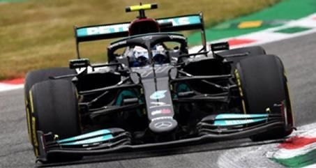 【1月予約】スパーク 1/43 メルセデス-AMG ペトロナス W12 E Performance No.77 2021 F1 イタリアGP 3位/スプリント予選1位 V.ボッタス 完成品ミニカー S7691