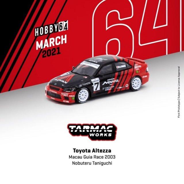 ターマックワークス 1/64 トヨタ アルテッツァ No.7 2003 マカオギアレース 完成品ミニカー T64-019-03MGP07