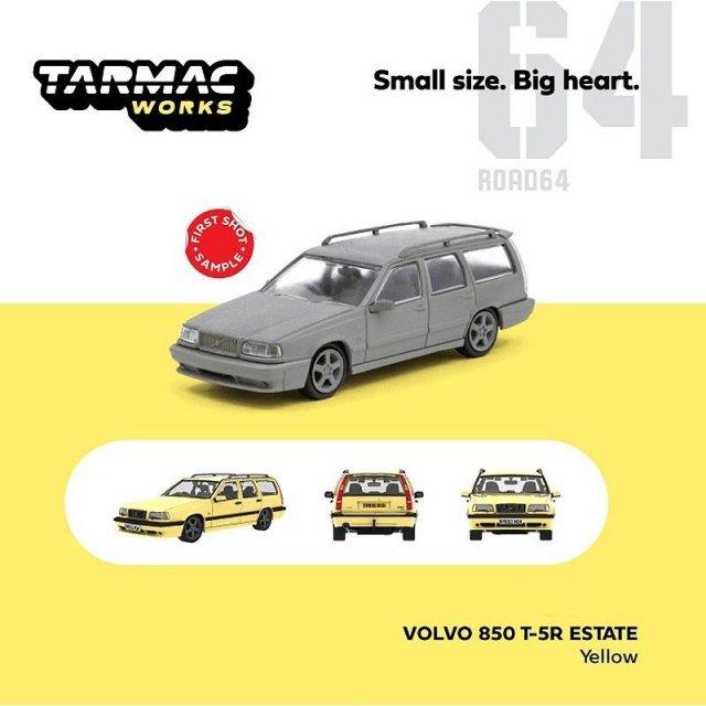 ターマックワークス 1/64 ボルボ 850 T-5R エステート イエロー 完成品ミニカー T64R-039-YL