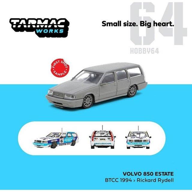 ターマックワークス 1/64 ボルボ 850 エステート No.15 1994 BTCC R.ライデル 完成品ミニカー T64-039-94BTCC15