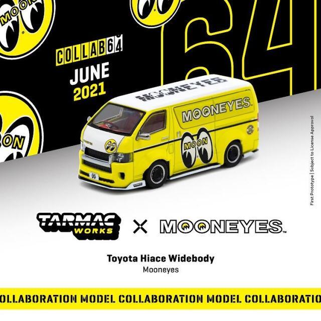 【8月予約】ターマックワークス 1/64 トヨタ ハイエース ワイドボディ ムーンアイズ 完成品ミニカー T64-038-ME
