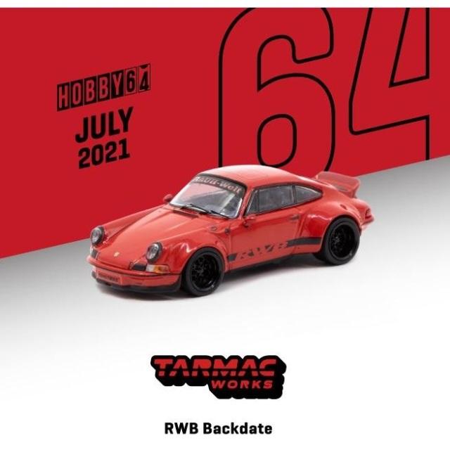 【9月予約】ターマックワークス 1/64 RWB ポルシェ Backdate レッド 完成品ミニカー T64-046-RE