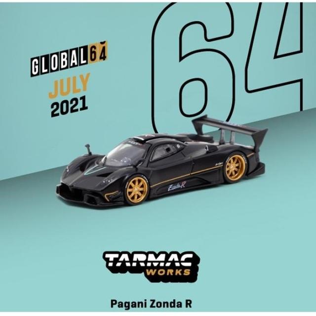 【9月予約】ターマックワークス 1/64 パガーニ ゾンダR マットブラック 完成品ミニカー T64G-TL015-MB