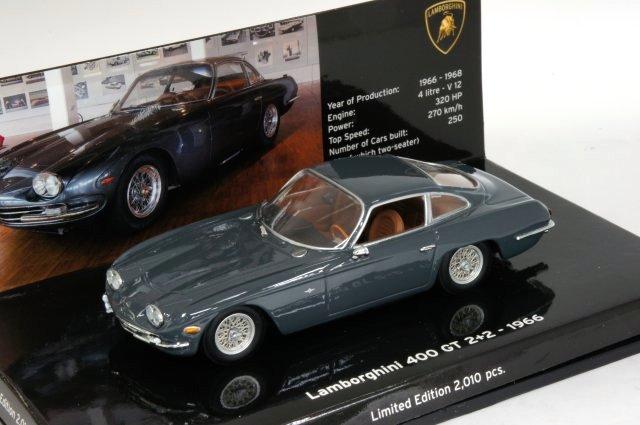 ミニカー 1/43 ミニチャンプス MINICHAMPS ランボルギーニ 400 GT 2+2 1966 グレー(436103310)