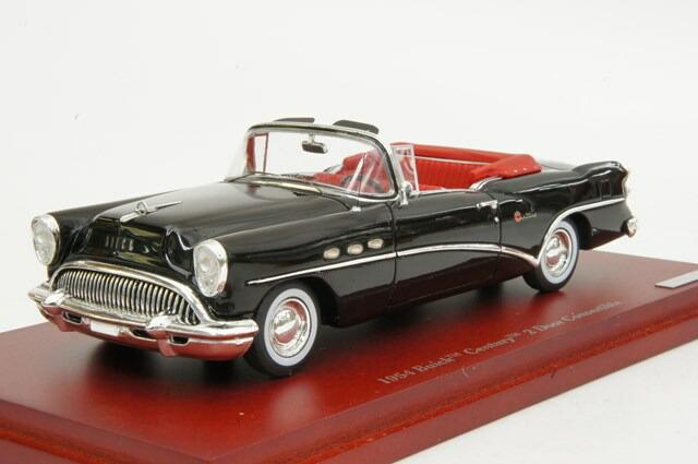 ミニカー 1/43 トゥルースケール TRUE SCALE ビュイック センチュリー 1954年 2ドア コンバーチブル ブラック/インテリア:レッド(TSM134307)